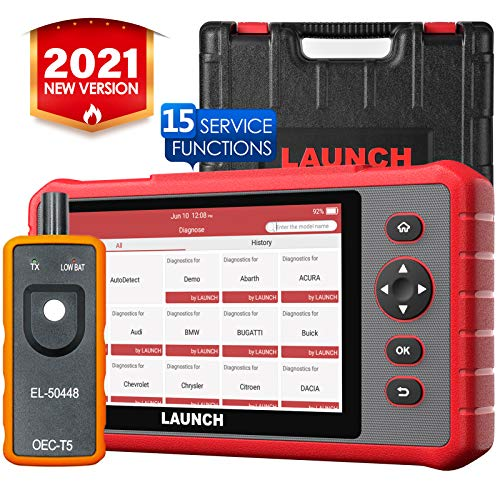 LAUNCH CRP909X Scan Tool OBD2 Scanner Full System Diagnostic Tool 15 Reset Functions Oil Reset EPB BMS SAS DPF ABS Bleeding TPMS Auto VIN OneClick Update EL50448 Tool as Gift
