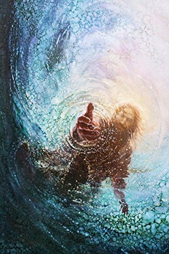Havenlight Yongsung Kim - The Hand of God Painting - Jesus Reaching Into Water - 8' x 10' Print from
