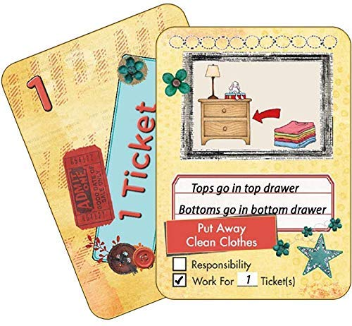 NEATLINGS Chore Cards Self-Care Deck ? 34 Self-Care Chores & 21 Ticket Cards ? Reward & Responsibility ? Yellow