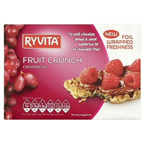 Ryvita Fruit Crunch Knäckebrot (200g) - Packung mit 6