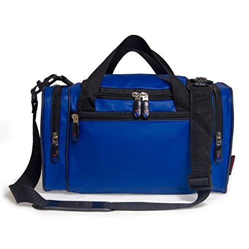 Vashka On Board-conforme secondo bagaglio a mano per Ryanair 20x35x20cm (Blu Syntetic Leather)