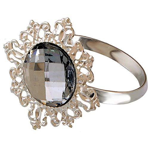 Serviettenring, elegant, Acryl, Diamant-Servietten, Schnallen, Hochzeit, Party, Bankett, Ornament, Esstisch, Dekoration, 12 Stück