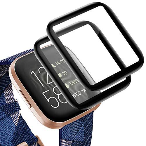 KIMILAR 3D Pellicola Compatibile con Fitbit Versa 2 (Non per Versa/Versa Lite), (2 Pezzi) Copertura Totale Protettiva Cover Schermo per Versa 2 Smartwatch