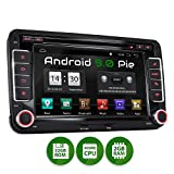 XOMAX XM-10GA Autoradio mit Android 9.0 passend für VW SEAT Skoda, 2GB RAM, 32GB ROM, GPS Navigation, DVD, CD, USB, SD I Support: WiFi 4G, DAB+, OBD2 I Bluetooth I 7 Zoll / 18 cm...