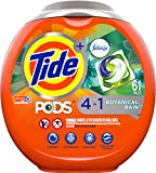 Product Image of the Tide PODS Laundry Detergent Liquid Pacs, Botanical Rain Scent, 4 in 1 HE Turbo, 61 Count (Packaging May Vary)