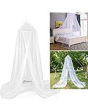 Myggnät säng, vitt myggnät för resor och hem, stort myggnät dubbelsäng enkelsäng inkl. monteringsmaterial, finmaskigt nät, sänghimmel flugnät resa insektsnät baldakin