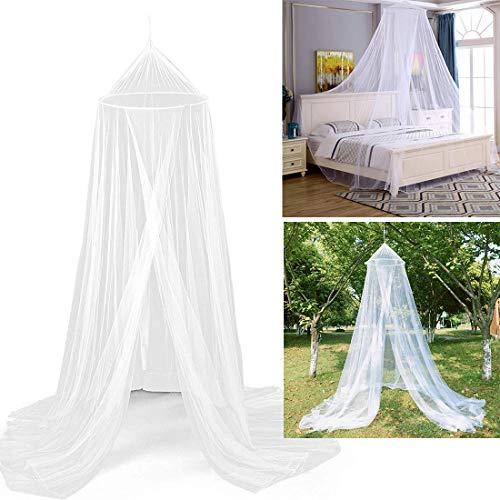 Canopy de Mosquitera Universal, Mosquito Net Blanca de Color Blanco con Diseño de Cúpula, Fácil Cama Colgante Canopy Netting, Protección de Red de Insectos para Camas Individuales y Dobles