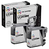 LD Compatible Ink Cartridge Replacement for Brother LC203BK High Yield (Black, 2-Pack)