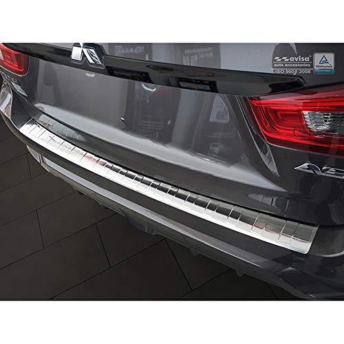 Avisa Protection de seuil arrière inox compatible avec Mitsubishi ASX 2017-2019 'Ribs'
