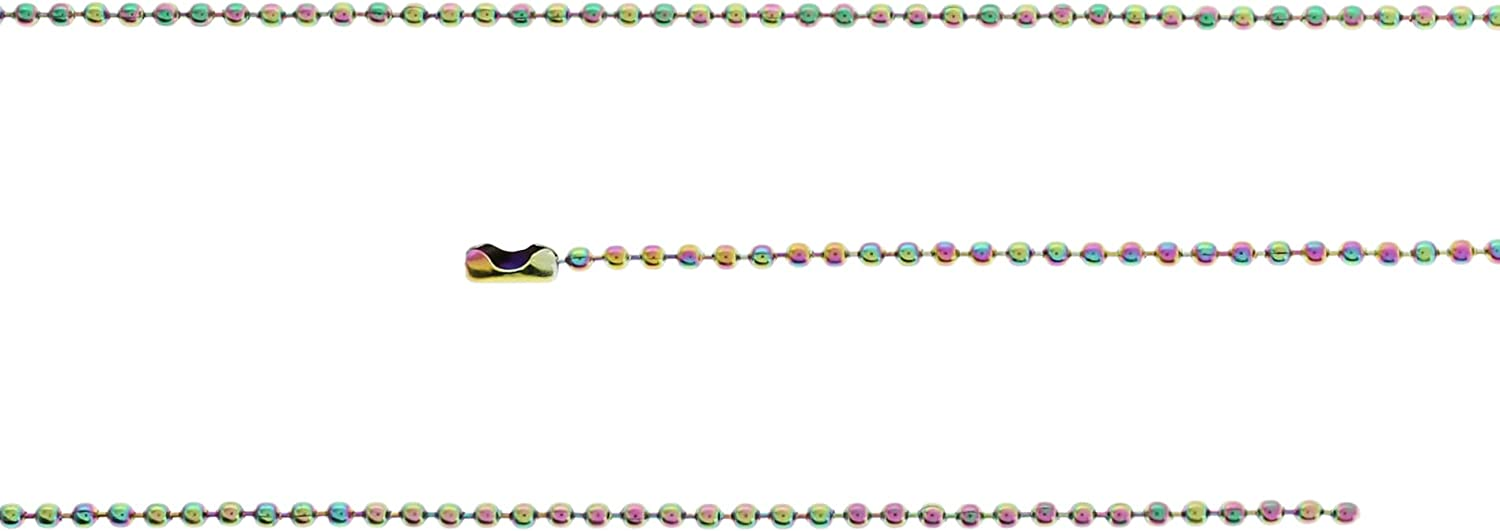 National products Max 41% OFF 10 Rainbow Electroplated Stainless Steel Ball 29 Necklaces Chain
