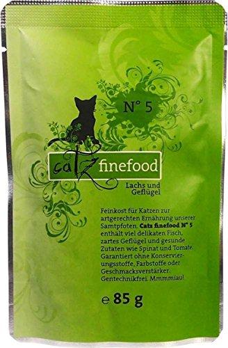 Pets Nature Catz finefood No. 5 Lachs 85g-Pouchbeutel