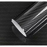 IlMondoMall 4D カーボンシート ハイ グロス カーボン調 カーボンステッカー 汎用 艶有りタイプ (152×035cm, 黒)