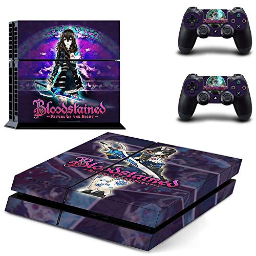 FENGLING Bloodstained Ritual Of The Night PS4 Skin Sticker für Playstation 4 Konsole und 2 Controller Skin PS4 Sticker Vinyl