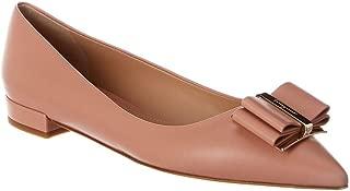 SALVATORE FERRAGAMO Zeri Leather Ballet Flat, 7, Pink