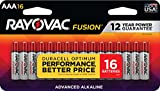 Rayovac Fusion AAA Batteries, Premium Alkaline Triple A Batteries (16 BatteryCount)