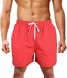 LK LEKUNI Swim Shorts Mens Swimming Trunks Beach Surf Quick Dry Adjustable Drawstring