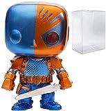 DC Comics: Figura de vinilo Funko Pop! (versión metálica de Deathstroke (PX Previews Exclusive) (incluye funda protectora de caja de pop compatible)