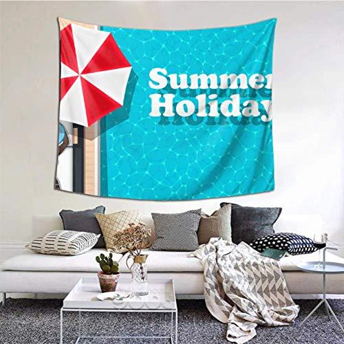 N\A Home Wandbehang EIN erfrischender Pool im Sommer Teen Tapisserie 60x51 Zoll (152x130cm) Wandbehang Kunst Home Decor Polyester für Wohnzimmer Schlafzimmer Wohnheim