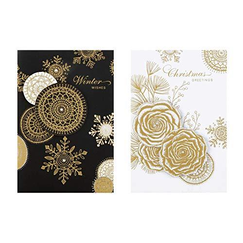 Hallmark 25499988 - Tarjetas de Navidad hechas a mano (10 tarjetas, 2 diseños)