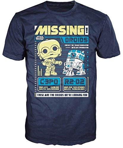 STAR WARS - T-Shirt POP - C-3PO and R2-D2 Missing (M) : TShirt , ML