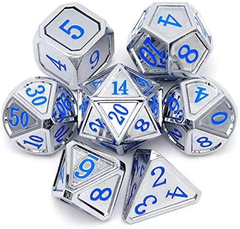 Haxtec Metal DND Dice Set Classic Collection D D Polyhedral Dice for Dungeons and Dragons TTRPG product image