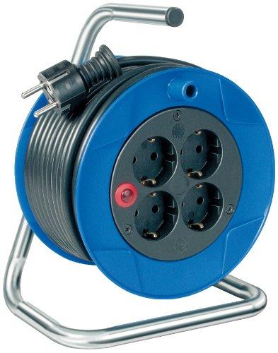 Brennenstuhl Garant Compacte kabelhaspel 4-voudig 15 m blauw, zwart.