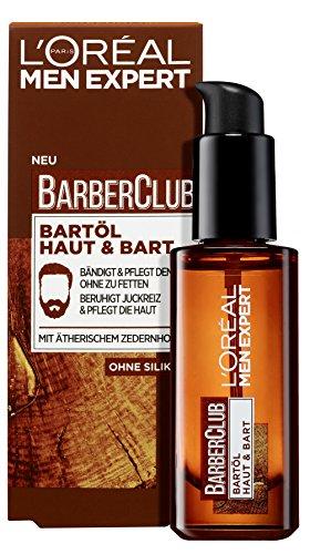 L'Oréal Men Expert Barber Club Bartöl, die Bartpflege mit Zedernholzöl sorgt für eine gepflegte Bartpracht sowie einen gebändigten Bartstil (1 x 30ml)