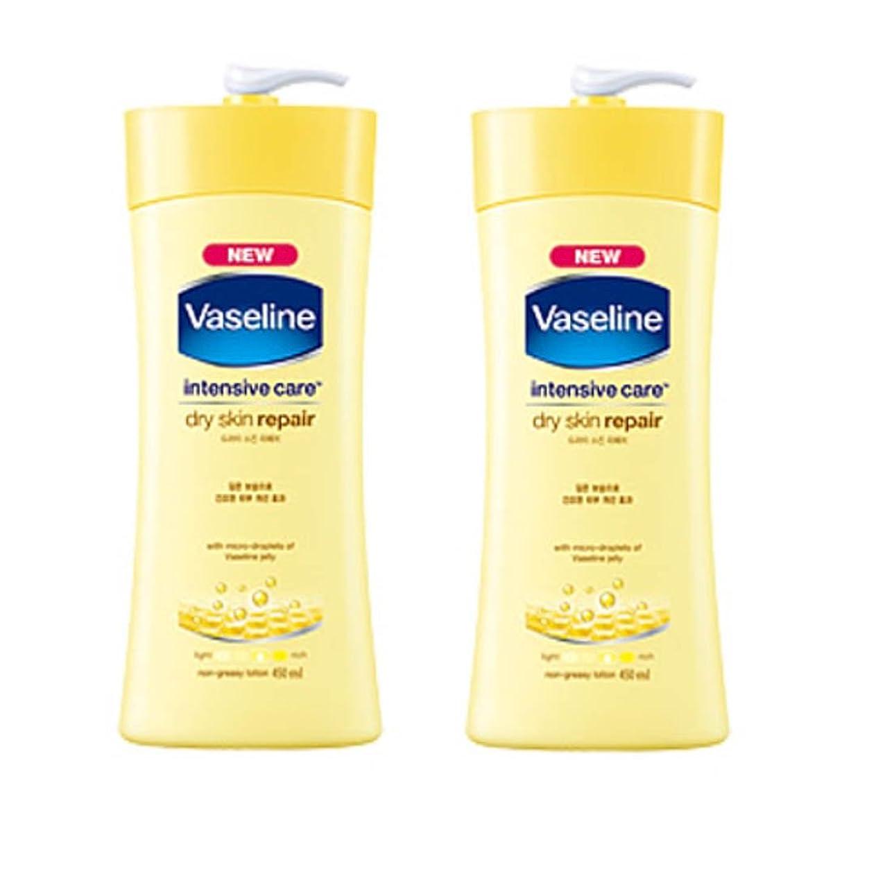 ラフ睡眠手段を除くヴァセリン インテンシブケア ドライスキン リペアローション(Vaseline Intensive Care Dry Skin Repair Lotion) 450ml X 2個 [並行輸入品]