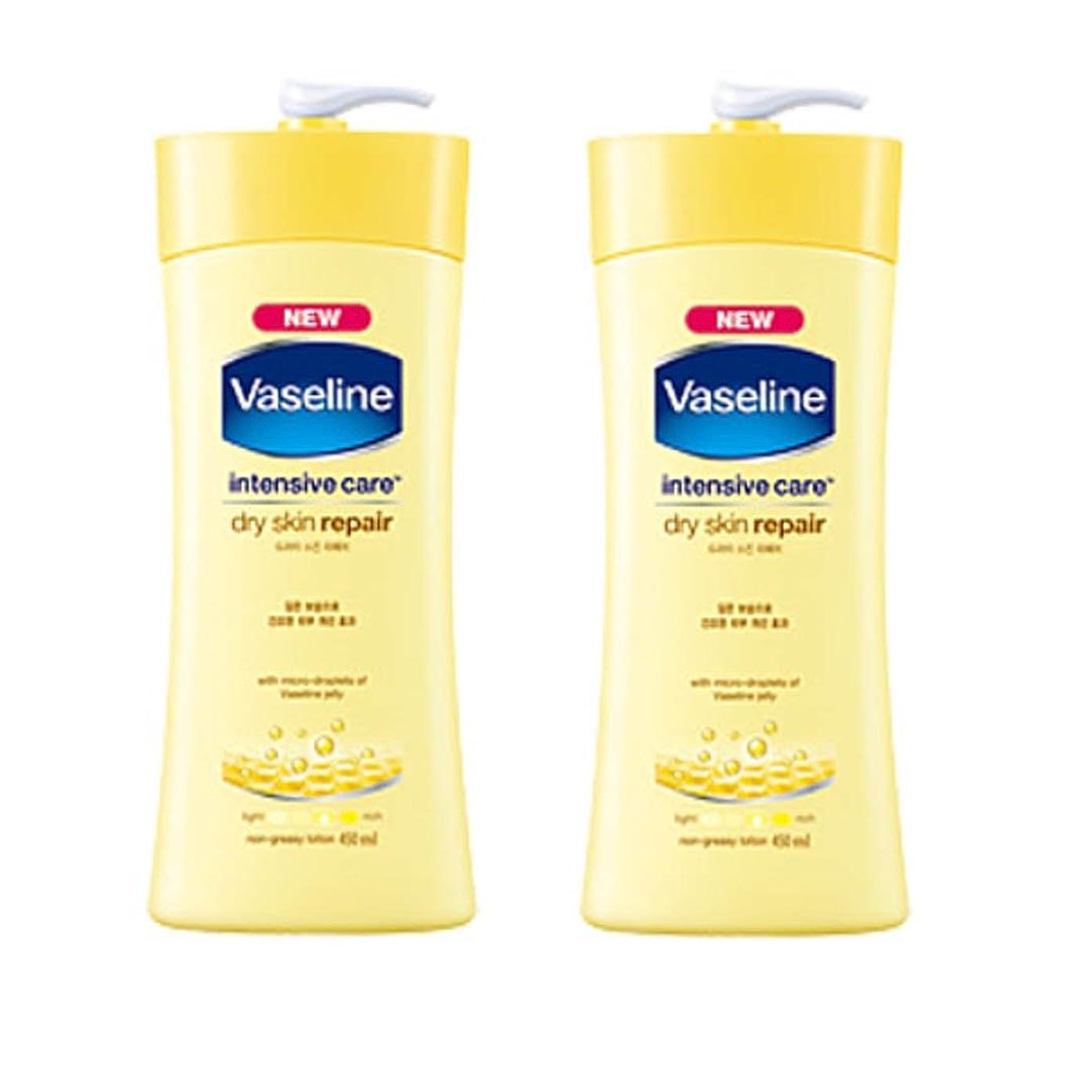 咳トリップすべてヴァセリン インテンシブケア ドライスキン リペアローション(Vaseline Intensive Care Dry Skin Repair Lotion) 450ml X 2個 [並行輸入品]