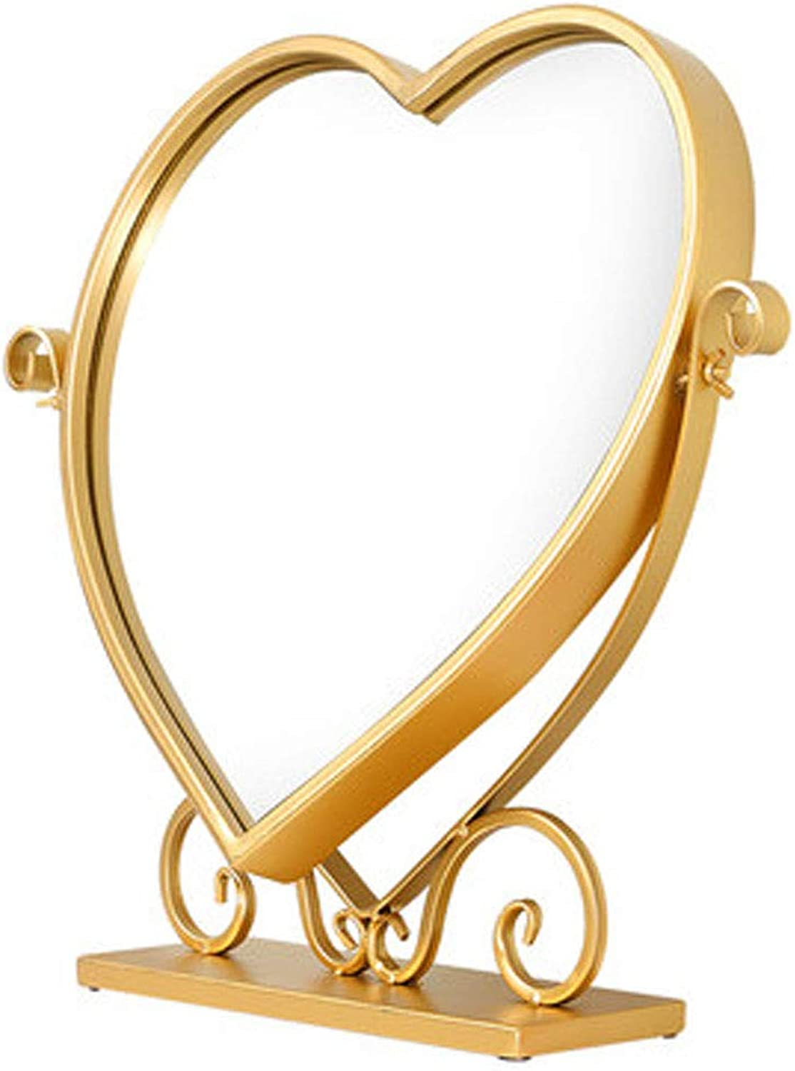 Wall Mount Round Mirror Modern Framed Mirror Wall-Mounted Heart-Shaped Wash Mirror Hanging Mirror for Wall, Vanity Mirror