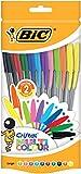 BIC Cristal Multicolour Penne a Sfera Punta Larga (1,6 mm) - Colori Assortiti, Sacchetto da 20
