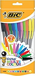BIC Cristal Multicolour Ballpoint Pens are available in 4 Fashion Ink Colours & 4 standard Colours BIC Cristal Multicolour Pens have smoked barrel with visible ink level The cap & end plug of each Pen matches the ink Colour Each Pen has a 1.6mm Tip t...