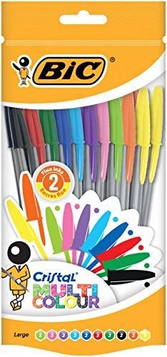 BIC 942049 Kugelschreiber Cristal (1.6 mm) farbig sortiert, Beutel 20 Stück
