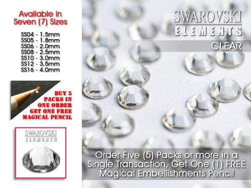 Lana's Magic SS04 Lot de 50 strass en cristal à dos plat Swarovksi Transparent Ø 1,5 mm