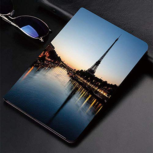 Case for iPad (9.7-Inch, 2018/2017 Model, 6th/5th Generation)Ultra Slim Lightweight Smart Cover,Night,Eiffel Tower at Twilight Travel Destination Tourist Attraction Famous,Smart Covers Auto Wake/Sleep
