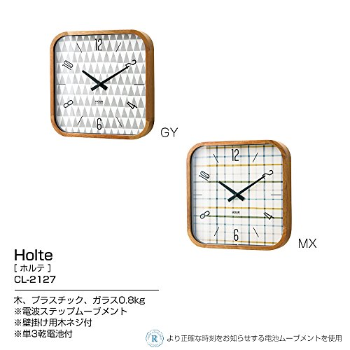 インターフォルム(INTERFORMINC.)電波掛け時計Holte-ホルテ-ミックスカラーCL-2127MXCL-2127MX