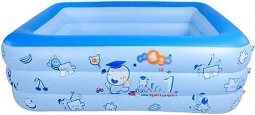 Szblk Piscine Gonflable de Piscine de pataugeoire pour Enfants de Piscine de Piscine de Piscine de PVC à la Maison 3 Couches Belle Piscine (103.14in  68.89in  21.65in)