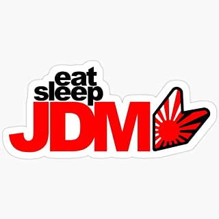 WillettaStore Eat Sleep JDM (6) Stickers (3 Pcs/Pack)