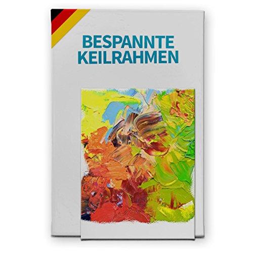 Bespannter Keilrahmen (unbedruckt), 100x200cm, 250g/m² (100% PES), 18 mm (Standard)