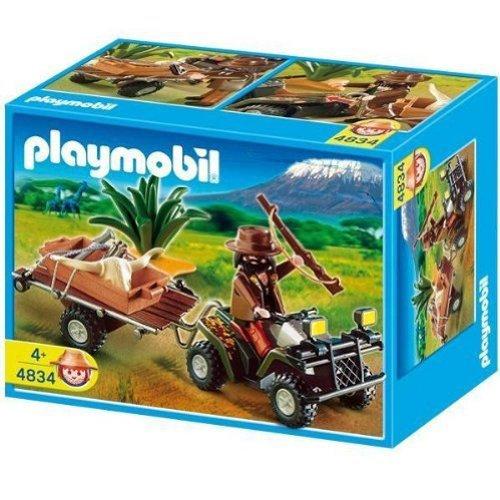 PLAYMOBIL - Selva Cazador Quad Y Remolque