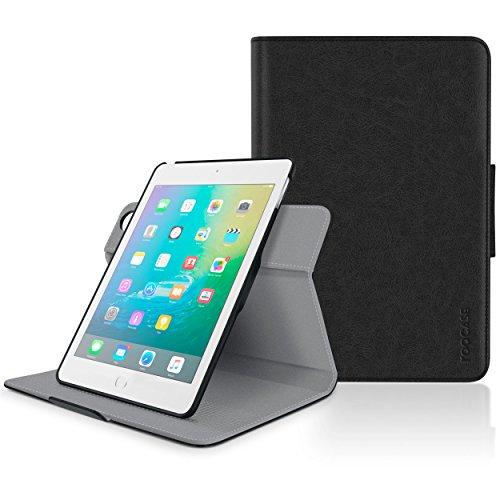 Apple iPad Mini 3 Case - roocase Orb System Folio 360 Dual View Leather Case Smart Cover Black