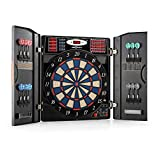 OneConcept Masterdarter - Auto Darts, Electronic Target, E-Darts, PC Game, 38 Games, 211 Variants, Up to 16 Players, LED Display, 12 Soft Tip Darts, Black