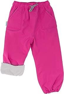 JAN & JUL Kids Water-Proof Fleece-Lined/Single Layer Rain Pants