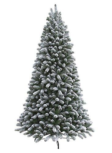 KING OF CHRISTMAS 6.5 Foot King Flock Artificial Christmas Tree Unlit no Warranty