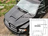 Unpainted Hood Scoop Compatible with 2002-2008 1500 & 2003-2009 2500/3500 Dodge Ram Rumble Bee Kit OE Dimension HS006