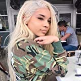 Full Lace Wigs Human Hair Wigs 613 Blonde Wigs 150% Density Silky Straight With Baby Hair 100% Brazilian Human Remy Hair (22 Inch, Full Lace Wig)