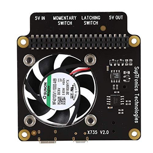 Yongenee Para la administración de energía de Raspberry Pi X735 y la Placa de expansión de refrigeración automática con Apagado Seguro para Raspberry PI 3B + (Plus) / 3B / 2B +