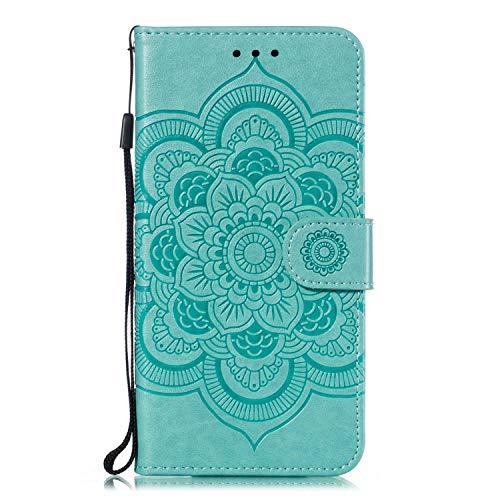 GIMTON Stoßfest Hülle für Galaxy A30 / Galaxy A20, Brieftasche Klapphülle mit Geldfach und Kartenfach, Premium Magnetischen PU Leder für Samsung Galaxy A30 / Galaxy A20, Grün