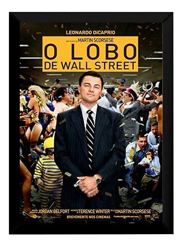 Lindo Quadro Decorativo Lobo Wall Street 24x33cm P5176