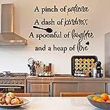 Adhesivos decorativos para pared, cita receta guacamole maison pour cocina restaurante receta guacamole casa para cocina restaurante 15.4 pulgadas x 16.8 pulgadas